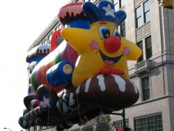 This is one of several giant helium balloons that will be part of the Reading Holiday Parade this Saturday.