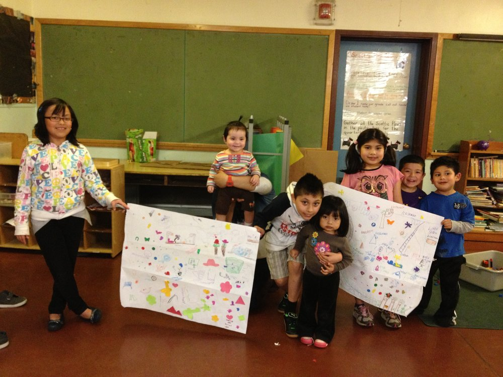 Cully neighborhood children designing safe streets