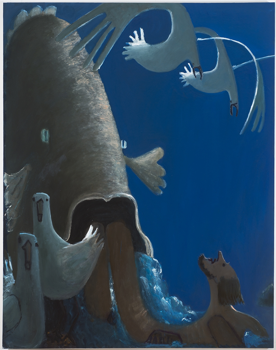 Jonah and the Whale,  2014 oil on canvas 68 x 52 inches