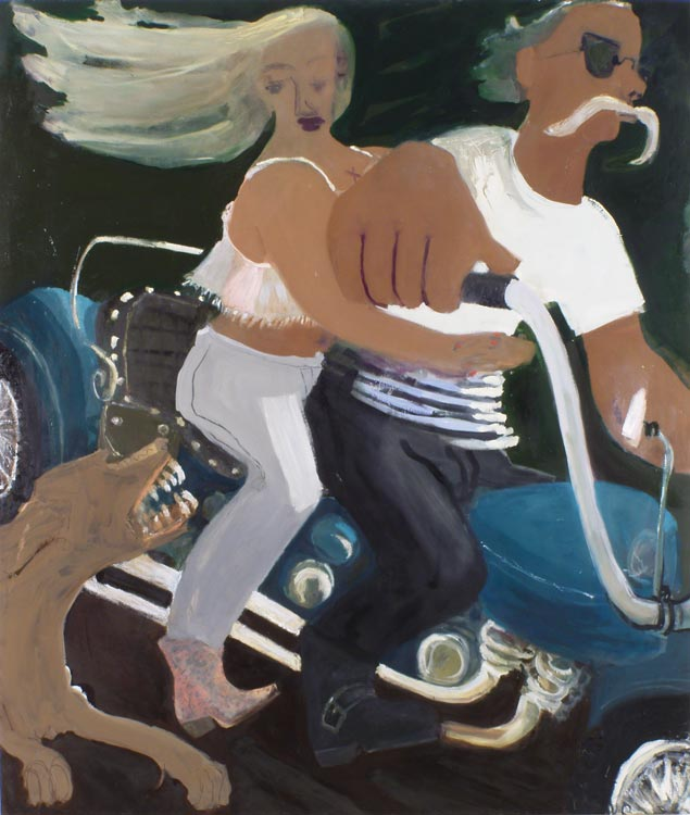 Bad Dog on Sparta Road , 2007 oil on linen 56 x 68 in.