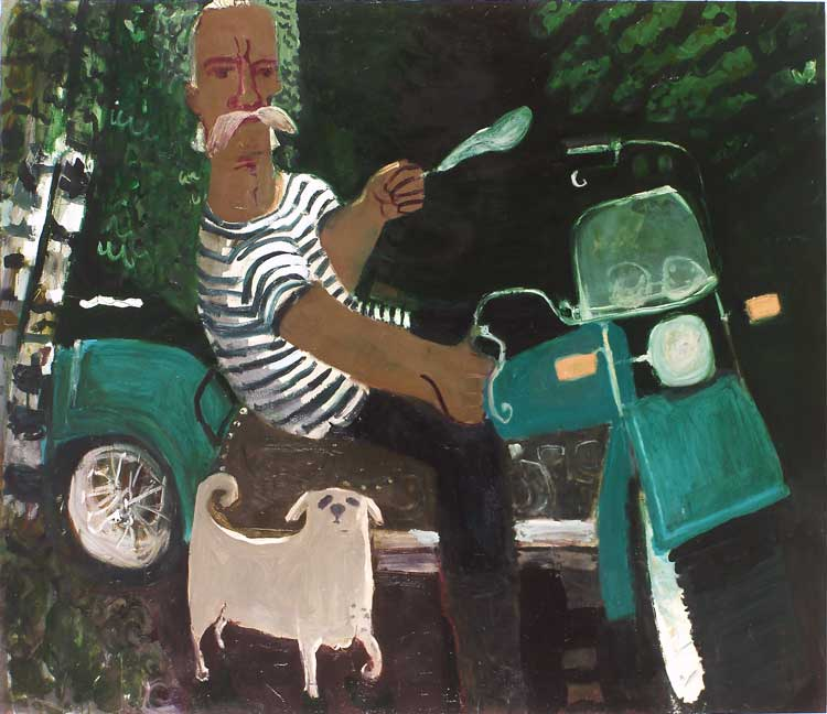 Fub and Tippy , 2006 oil on linen 76 x 66 in.