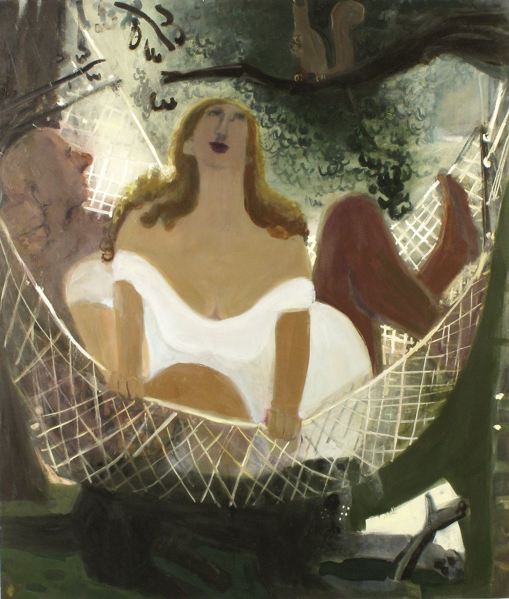 Hammock , 2009 oil on linen 56 x 68 in.