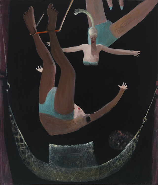 Trapeze,  2012 oil on canvas 68 x 58 inches