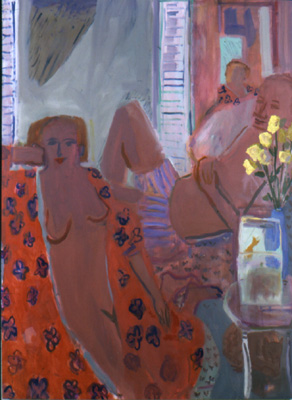 9th Anniversary,  2001 Oil on linen 58 x 70 inches