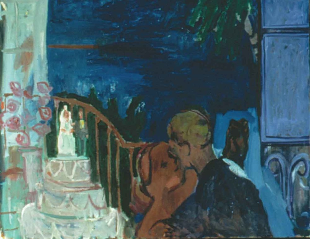 Anniversary , 1997 Oil on canvas 56 x 44 inches