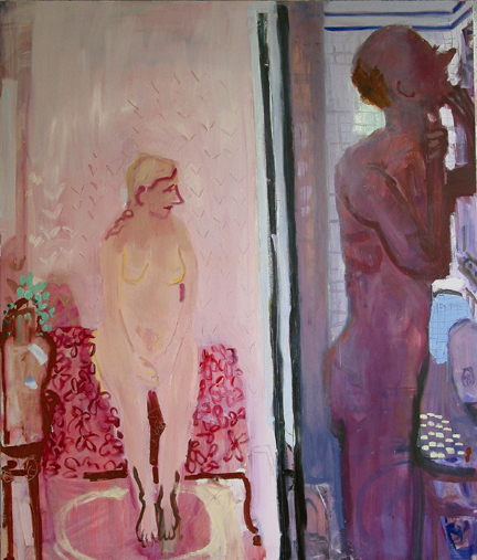 Before Breakfast , 2003 Oil on linen 58 x 68 inches