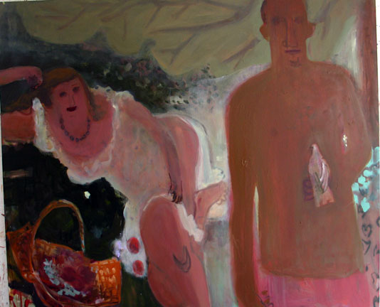 Bird in Hand , 2005 Oil on linen 58 x 72 inches