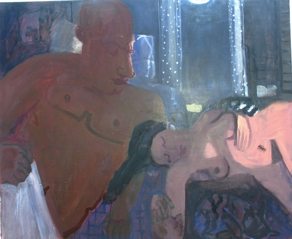 Dreamer , 2007 oil on linen 64 x 54 inches