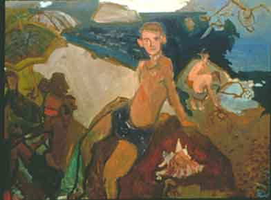 Blue Crab , 1997 Oil on canvas 70 x 52 inches