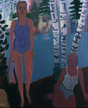 By the Lake , 2001 Oil on linen 56 x 68 inches