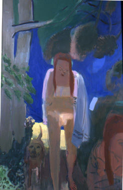 Giblin Girls , 2000 Oil on canvas 48 x 70 inches