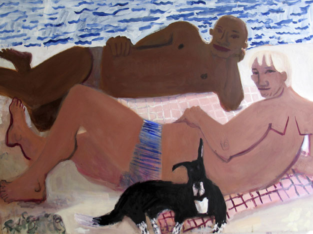 Greg and Eric , 2005 Oil on linen 70 x 58 inches