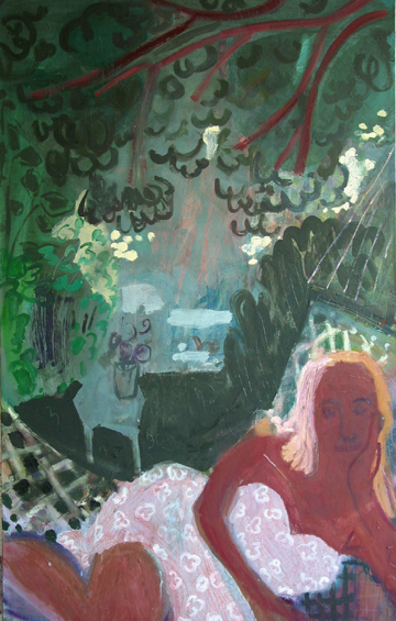 Flora 1 , 2004 Oil on linen 36 x 58 inches