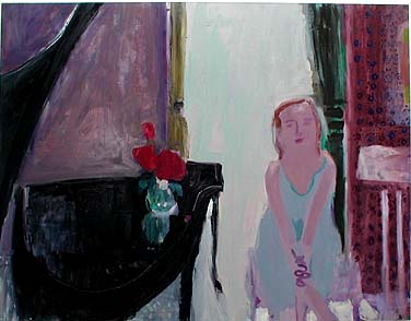 Iris' Piano , 2002 Oil on canvas 68 x 54 inches