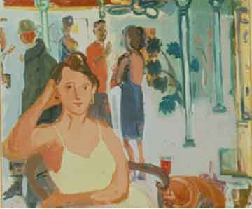 Janice's Party , 1997 Oil on canvas 46 x 40 inches