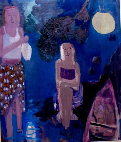 Japanese Lanterns , 2002 Oil on canvas 58 x 68 inches
