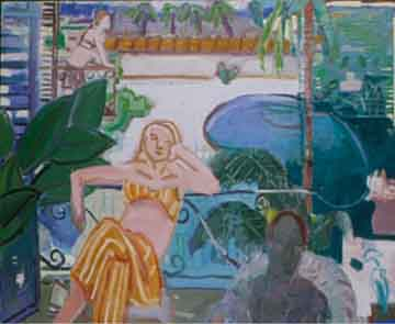 La Valencia , 1998 Oil on canvas 52 x 60 inches