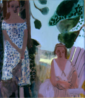 Lake Eshquagama , 2001 Oil on linen 48 x 58 inches
