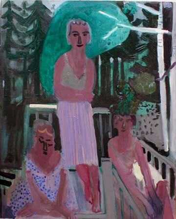 Lakeland , 2002 Oil on canvas 53 x 63 inches