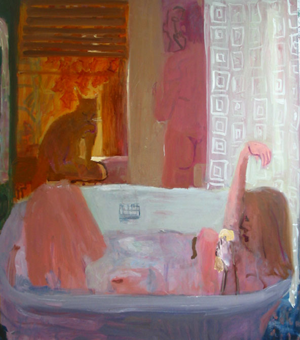 Morning Bath , 2004 Oil on linen 54 x 64 inches