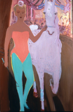Paris Circus , 2001 Oil on linen 48 x 70 inches