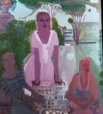 Pink Dress , 2001 Oil on canvas 52 x 64 inches
