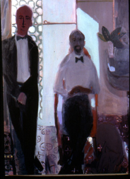 Piano Teacher , 2001 Oil on linen 50 x 68 inches