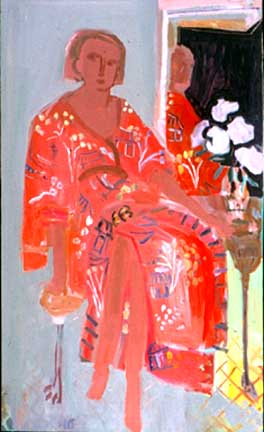 Red Robe , 1999 Oil on canvas 36 x 48 inches