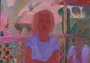 Room 306 , 1998 Oil on canvas 68 x 52 inches