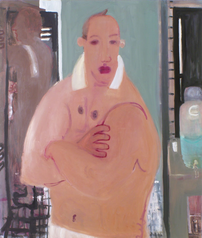 Robert's Gym , 2005 oil on linen 58 x 70 inches