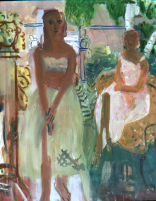 Summer Sisters , 1999 Oil on canvas 48 x 54 inches