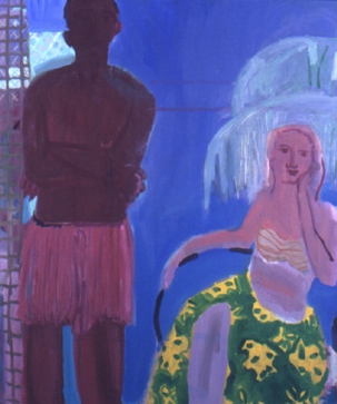 The Shores Hotel , 2001 Oil on canvas 52 x 60 inches