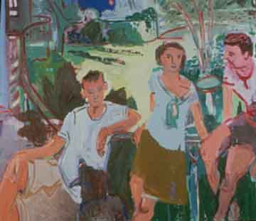 Three Friends , 1997 Oil on canvas 52 x 62 inches