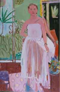 White Dress , 1998 Oil on canvas 36 x 58 inches