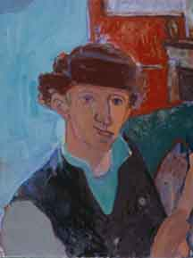 Winter Hat , 1998 Oil on linen 36 x 46 inches