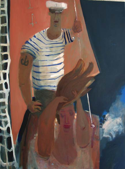 James' Red Sail , 2005 oil on linen 58 x 68 inches