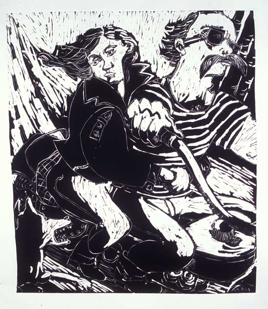 Bad Dog , 2007 Linocut 33 x 36 inches