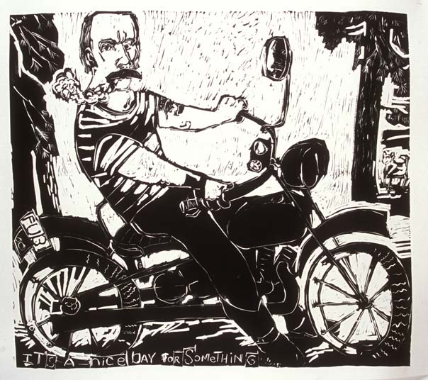 Nice Day for Something , 2006 Linocut 36 x 33 inches