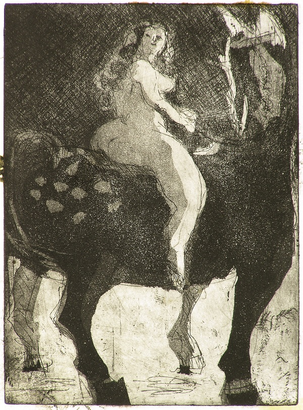 Small Godiva , 2009 Etching and Aquatint 5 x 7 inches