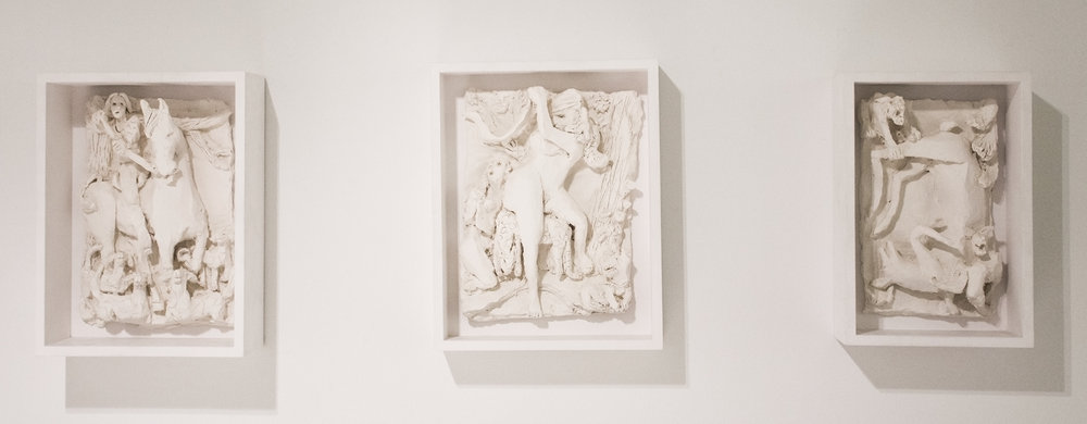 Study for Diane and Actaeon  (2013) Terracotta Overall: 45 x 13 1/2 inches