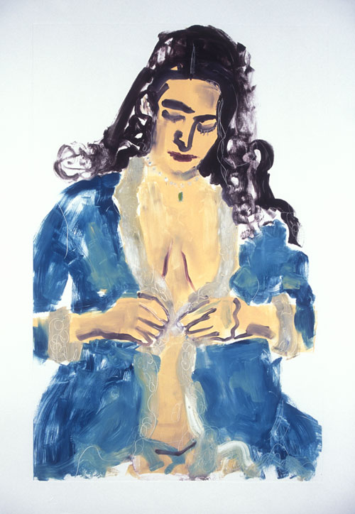 Blue Robe , 2007 Monoprint 24 x 32 inches