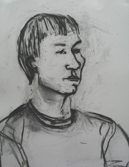 Eric , 2005 Charcoal 24 x 32 inches