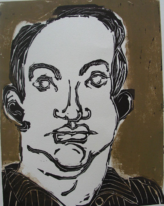 Scott , 2004 Linocut 11 x 14 inches