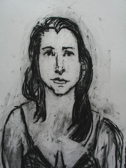 Tracy , 2004 Charcoal 24 x 32 inches