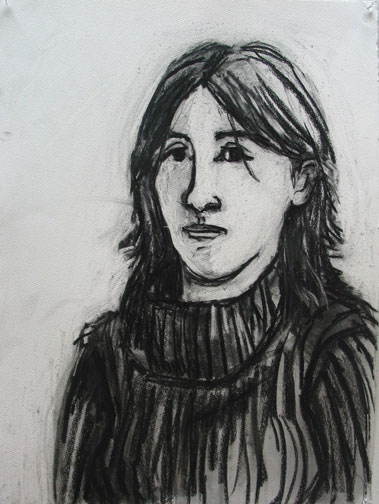 Rhonda , 2004 Charcoal 22 x 30 inches