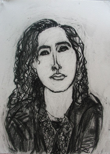 Loren , 2004 Charcoal 22 x 30 inches