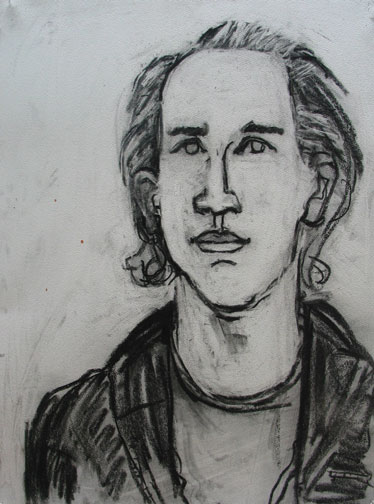 Joe , 2004 Charcoal 22 x 30 inches