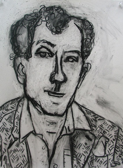 Famous Writer , 2004 Charcoal 22 x 30 inches