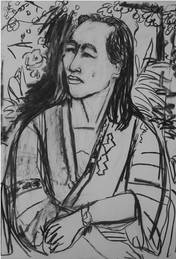 Yuki , 2003 Charcoal 30 x 42 inches