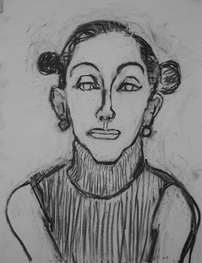 Suzanna , 2003 Charcoal 30 x 42 inches